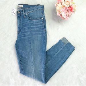 Madewell High-Rise Skinny Jeans Seamed Step-hem